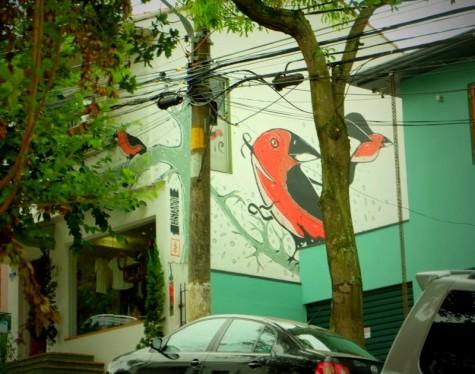 pássaro de tinta