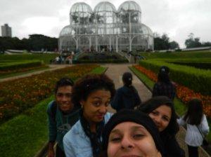 Mateus, Cintia, Paulinha, eu e a Estufa!