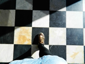 camiñando